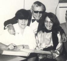 Pierwszy wspólny koncert.  Koniec lat 80-tych. Bogna Wernichowska, Anna Żeber, Jerzy Bożyk.
