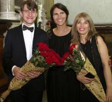 Od lewej: Adam Tański, Yoanna Ayers, Lela Mitchedlidze Foto: Yuri Mechitov