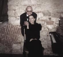 Po koncercie. Anna Żeber I Jerzy Bożyk. Rok 2001.